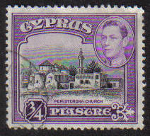Cyprus Stamps SG 153 1938 KGVI  3/4 Piastre - USED (g162)