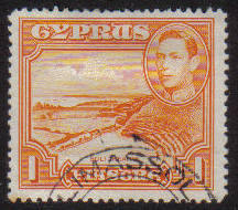 Cyprus Stamps SG 154 1938 KGVI  1 Piastre - USED (g196)
