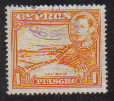 Cyprus Stamps SG 154 1938 KGVI  1 Piastre - USED (g198)