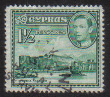 Cyprus Stamps SG 155ab 1951 KGVI  1 1/2  Piastres - USED (g184)