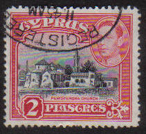 Cyprus Stamps SG 155b 1942 KGVI  2 Piastres - USED (g180)