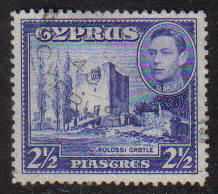 Cyprus Stamps SG 156 1938 KGVI  2 1/2 Piastres - USED (g174)