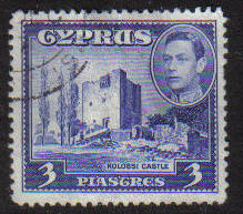 Cyprus Stamps SG 156a 1942 KGVI  3 Piastres - USED (g170)
