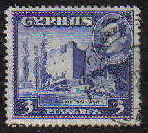 Cyprus Stamps SG 156a 1942 KGVI  3 Piastres - USED (g171)