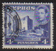 Cyprus Stamps SG 156b 1951 KGVI 4 Piastres - USED (g166)