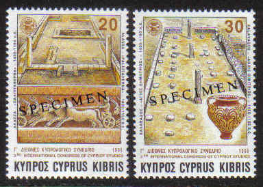 Cyprus Stamps SG 877-78 1995 Third congress of Cypriot studies - Specimen M