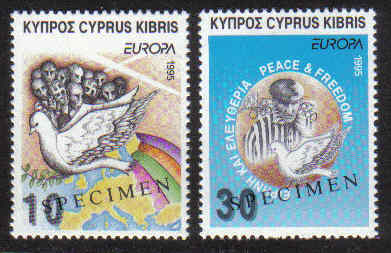 Cyprus Stamps SG 883-84 1995 Europa Peace and freedom - Specimen MINT