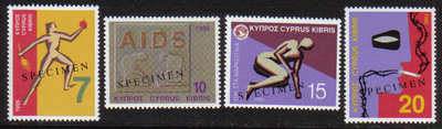 Cyprus Stamps SG 885-88 1995 Health Matters - Specimen MINT