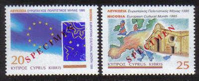 Cyprus Stamps SG 889-90 1995 European Cultural month - Specimen MINT
