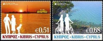 Cyprus Stamps SG 1275-76 2012 Europa Visit Cyprus - MINT
