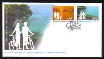 Cyprus Stamps SG 1275-76 2012 Europa Visit Cyprus - Official FDC