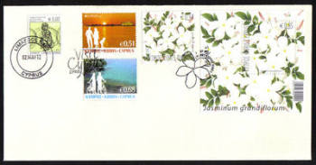Cyprus Stamps SG 2012 (d) 2nd of May Issues Europa Visit Cyprus and Flowers - Unofficial FDC (g266)