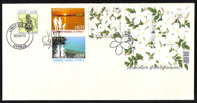 Cyprus Stamps SG 2012 (d) 2nd of May Issues Europa Visit Cyprus and Flowers