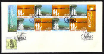 Cyprus Stamps SG 2012 (e) Europa Visit Cyprus Booklet Sheet - Unofficial FDC (g263)