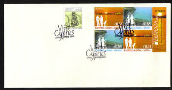 Cyprus Stamps SG 2012 (e) Europa Visit Cyprus Booklet Pane - Unofficial FDC (g265)