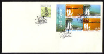 Cyprus Stamps SG 2012 (e) Europa Visit Cyprus Booklet Pane - Unofficial FDC (g264)