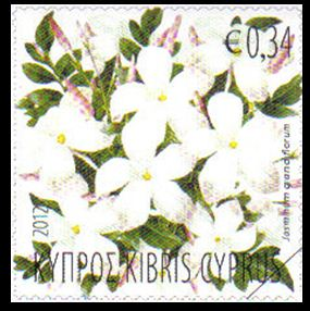 2012 Cyprus stamps Aromatic Flowers - Jasmine Mint Stamp