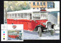 Malta Stamps Maximum Postcard 2011 No 18 Buses Transport With Stamp - MINT