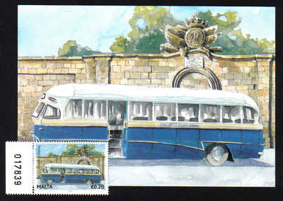Malta Stamps Maximum Postcard 2011 No 22 Buses Transport with Stamp - MINT
