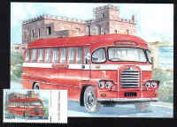 Malta Stamps Maximum Postcard 2011 No 23 Buses Transport With Stamp- MINT