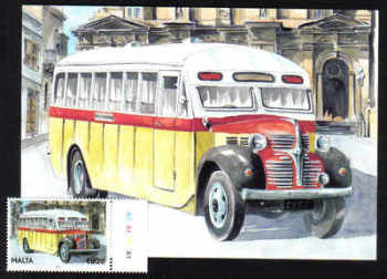 Malta Stamps Maximum Postcard 2011 No 25 Buses Transport With Stamp - MINT