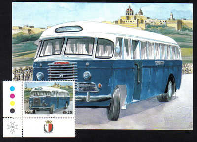 Malta Stamps Maximum Postcard 2011 No 26 Buses Transport With Stamp - MINT