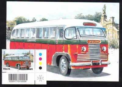 Malta Stamps Maximum Postcard 2011 No 27 Buses Transport With Stamp - MINT