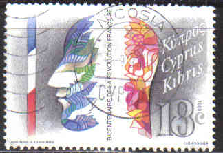 Cyprus Stamps SG 744 1989 French Revolution - USED (c330)