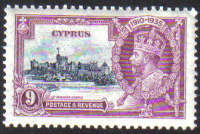 Cyprus Stamps SG 147 1935 Nine 9 Piastre Silver Jubilee KGV - MLH (g322))