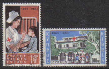 Cyprus Stamps SG 232-33 1963 Red Cross - USED (g350)