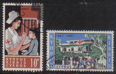Cyprus Stamps SG 232-33 1963 Red Cross - USED (g349)