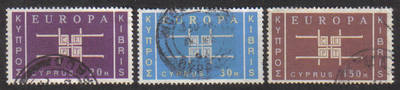 Cyprus Stamps SG 234-36 1963 Europa CEPT emblem - USED (g345)