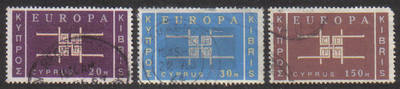 Cyprus Stamps SG 234-36 1963 Europa CEPT emblem - USED (g344)