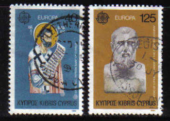 Cyprus Stamps SG 540-41 1980 Europa Personalities - USED (b206)