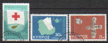 Cyprus Stamps SG 446-48 1975 Anniversaries and Events - USED (d649)