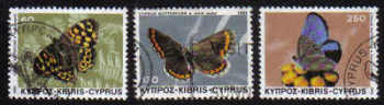 Cyprus Stamps SG 604-06 1983 Butterflies - USED (e235)