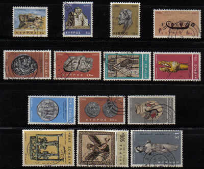 Cyprus Stamps SG 283-96 1966 2nd Definitives Antiquities - USED (e266)