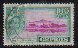 Cyprus Stamps SG 184 1955 QEII  100 Mils - USED (e379)