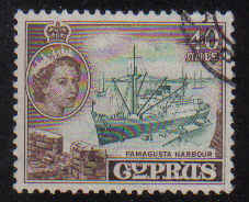 Cyprus Stamps SG 182 1955 QEII  40 Mils - USED (e374)