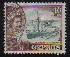 Cyprus Stamps SG 182 1955 QEII  40 Mils - USED (e372)