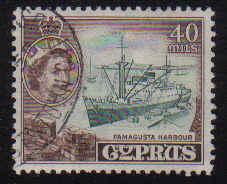 Cyprus Stamps SG 182 1955 QEII  40 Mils - USED (e372)