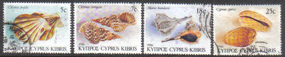 Cyprus Stamps SG 680-83 1986 Seashells - USED (g338)