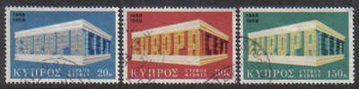 Cyprus Stamps SG 331-33 1969 Europa - USED (g342)