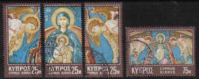 Cyprus Stamps SG 354-57 1970 Christmas - USED (g335)