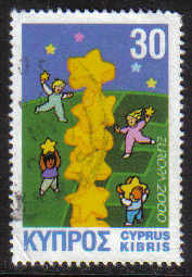 Cyprus Stamps SG 0996 2000 Europa 2000 - USED (g393)
