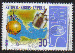 Cyprus Stamps SG 0999 2000 50th Anniversary of the World Meteorological organization - USED (g395)