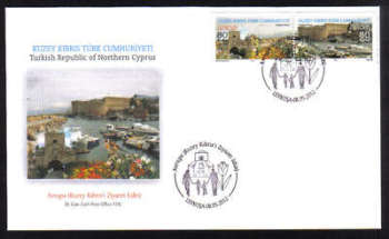 North Cyprus Stamps SG 0742-43 2012 Europa Visit - Official FDC