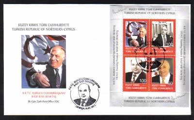 North Cyprus Stamps SG 2012 (a) Founding President Rauf Denktas Souvenir Sh