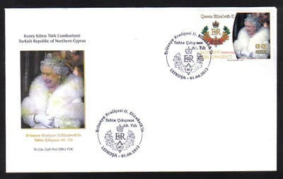 North Cyprus Stamps SG 2012 (c) The 60th Anniversary Diamond Jubilee of Que
