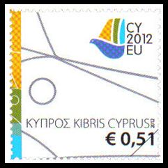 Cyprus Presidency of the Council of the EU 2012 Mint stamp